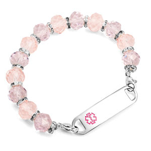 Light Pink Stretch Medical Bead Bracelet