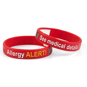 Mediband - Allergy Write on - Red - (Medium) - HSKU:2107-M