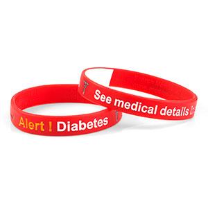 Mediband - Diabetes Write on - Red - (Large) - HSKU:2108-L