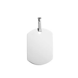 Ana Stainless Steel Engravable Pendant