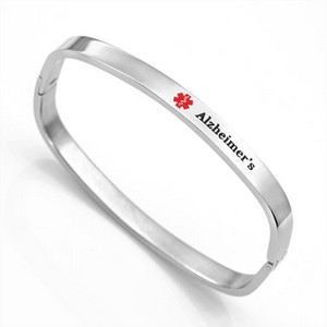 Bangle Style Alzheimers Bracelet