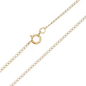 Fifteen Inch 2mm Gold Filled Curb Chain