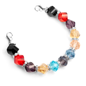 Multi Color Stretch  Bead Bracelet for Medical Tags 6 inch