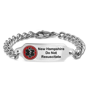 New Hampshire Do Not Resuscitate Bracelet 7 - 9 In