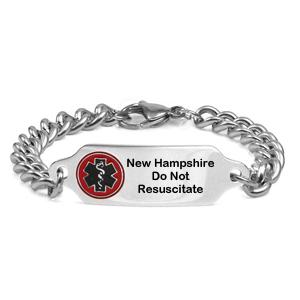 New Hampshire Do Not Resuscitate Bracelet 7 9 In