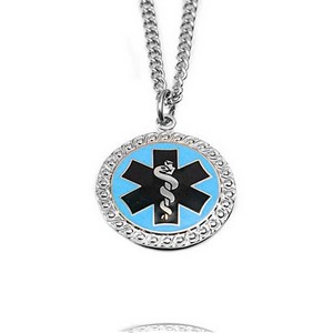 Oneida Blue Tone Medical ID Necklaces for Women