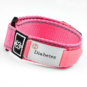 Pink Sports Strap Diabetic Bracelet
