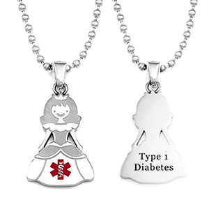 Princess Type One Diabetes Necklace