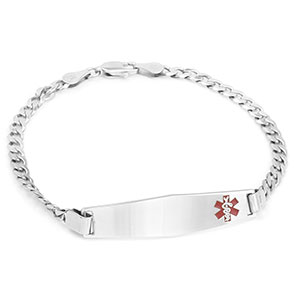 Luxurious Sterling Silver Medical ID Bracelet
