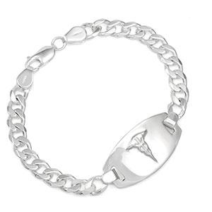 Eryn Sterling Silver Medical ID Bracelets