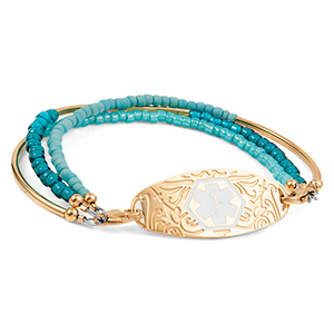 Golden Shades of Blue  Medical Alert Bracelet