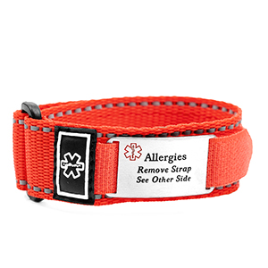 Red Sport Allergy Bracelet for Kids