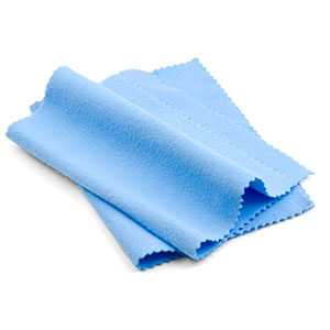 Double Pack of Baby Blue Polishing Cloths