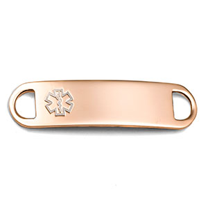 Rose Gold Medical ID Tag for Medical Bracelets