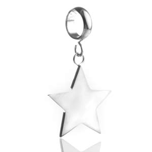 Shining Star Personalized Silver Charm