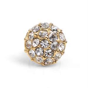 Gold Plated Steel Crystal Cluster for Echo Wrap Bracelets