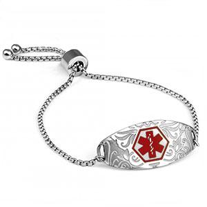 Modern Girl Easy Adjust Alert ID Bracelet
