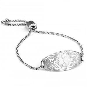 Carnation White Medical Bracelet