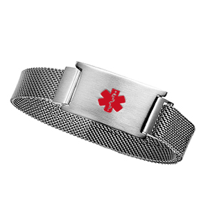 Silver Stainless Magnetic Closure Bracelet