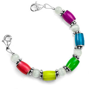 Glow in the Dark Multicolor Beaded Medical Alert Bracelet Strap