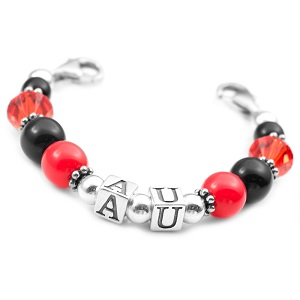 Auburn School Colors Womens Beaded Bracelet