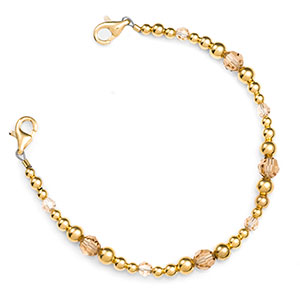 Golden Topaz Beaded Medical Alert Bracelets for Women Strap