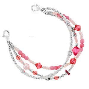 Candy Shop Triple Strand Beaded Bracelet 6 In (No Tag)