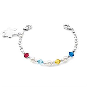 Autism Alert / Support Bead Bracelet & Puzzle Charm