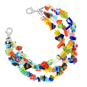 Millefiori Beaded Medical Alert Bracelets for ID Tags