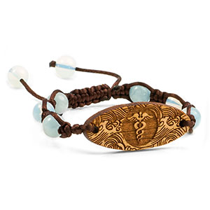 Ocean Tides Macrame Beaded Medical Alert Bracelet