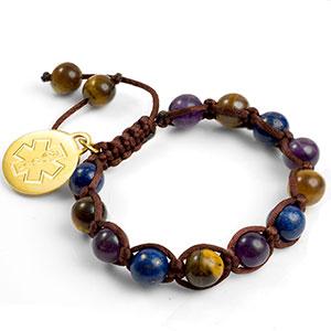 Jenna Beaded Macrame Medical ID Bracelet