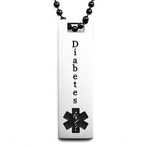 Slim Diabetic Jewelry Pendant (chain sold separately)