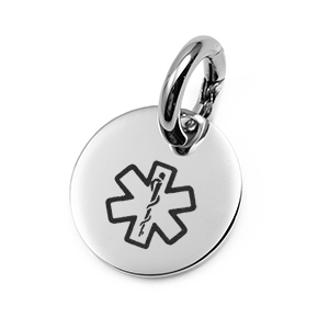 SM Stainless Medical Alert ID Tag for Pets, Bags and More