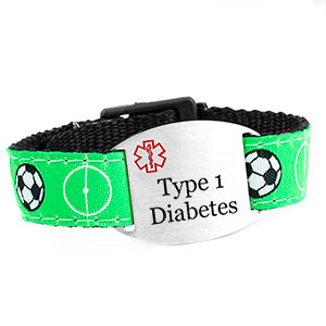 Soccer Strap Type 1 Diabetes Bracelet
