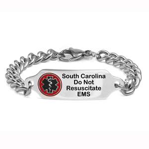 South Carolina DNR Medical ID Stainless Bracelet 7 - 9 In