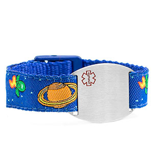 Space Mission Medical Sport Band Bracelet 4 - 8 Inch