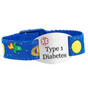 Space Mission Type 1 Diabetes Bracelet