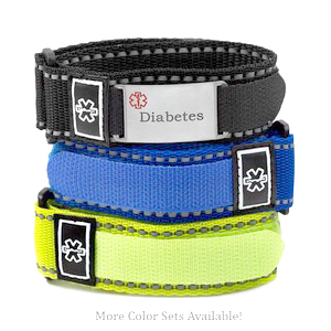 Colorful Sports Strap Diabetic Bracelets Variety Pack