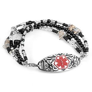 Beaded Medical Bracelet for Women
