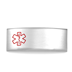Steel Medical ID Tag for Silicone Bands