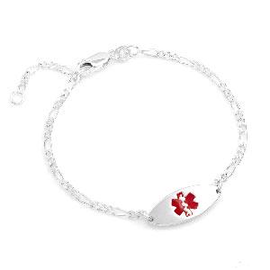 Sterling Silver Medical Bracelet 7 inch