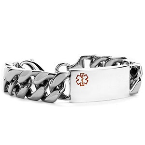 Trace Link Medical Bracelet for Men