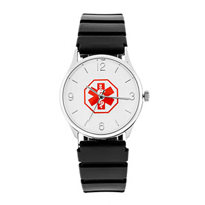 Rubber Custom Medical ID Watch
