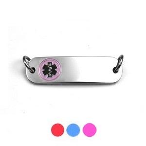 Varied Colors Small Steel Alert ID Tags