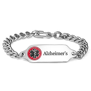 Women's Alzheimer's Bracelet with Safety Clasp 7.5 inch