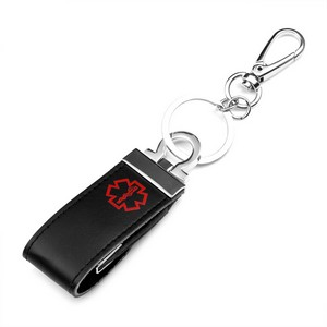 4GB - 8GB USB Leather Medical Key Chains