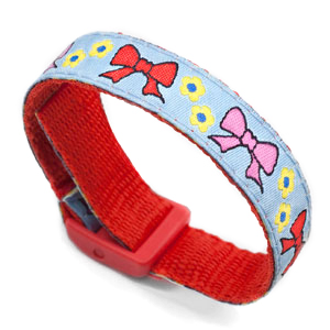 Bows Strap for Slide On ID Tags Fits Sizes Four to Eight Inches